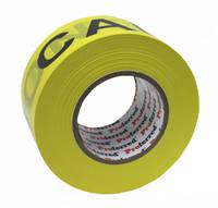 2.8IN X 1000FT, 0.035MM (1.3MIL) CAUTION TAPE PROFERRED YELLOW / BLACK CAUTION TAPE