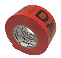 2.8IN X 1000FT, 0.035MM (1.3MIL) DANGER TAPE PROFERRED RED / BLACK DANGER TAPE