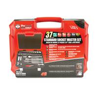 "3/8"" DRIVE 37 PIECE (SAE & METRIC) SAE & Metric PROFERRED SOCKET MASTER SET"