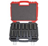 "15 PIECE 6 POINT DEEP IMPACT SAE PROFERRED 1/2"" DRIVE IMPACT SAE SOCKET SET"