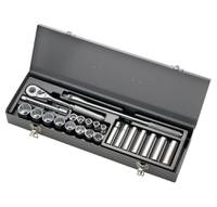 "1/2"" DRIVE 23 PIECE SAE (ARM 15 - 517A) USA SOCKET MASTER SET"
