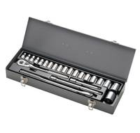 "1/2"" DRIVE 23 PIECE METRIC (ARM 44-516A) USA SOCKET MASTER SET"